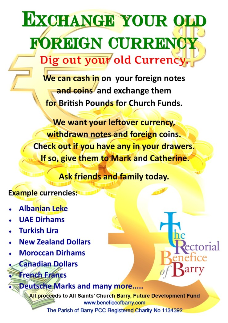 foriegn currency poster