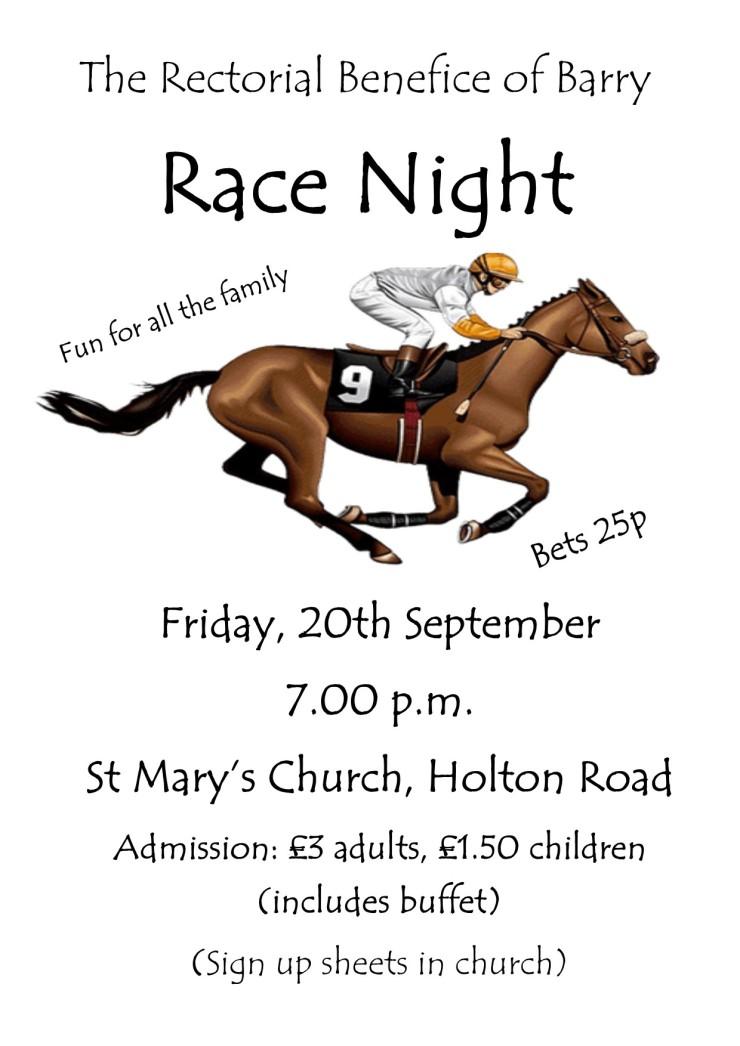 Race Night September 2019